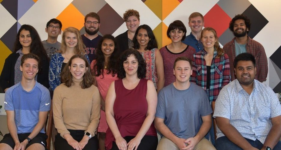 Group photo of Werner Lab Fall 2019 Members